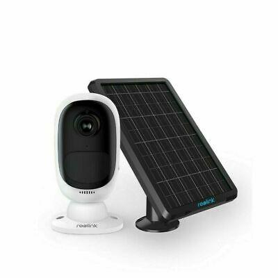 Reolink Kabellos Wireless Kamera Argus 2 Wiederaufladbar 1080P+ Sonnenkollektor