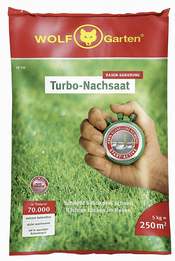 [Amazon Prime] WOLF-Garten Turbo-Nachsaat für 250 m², 35,99€