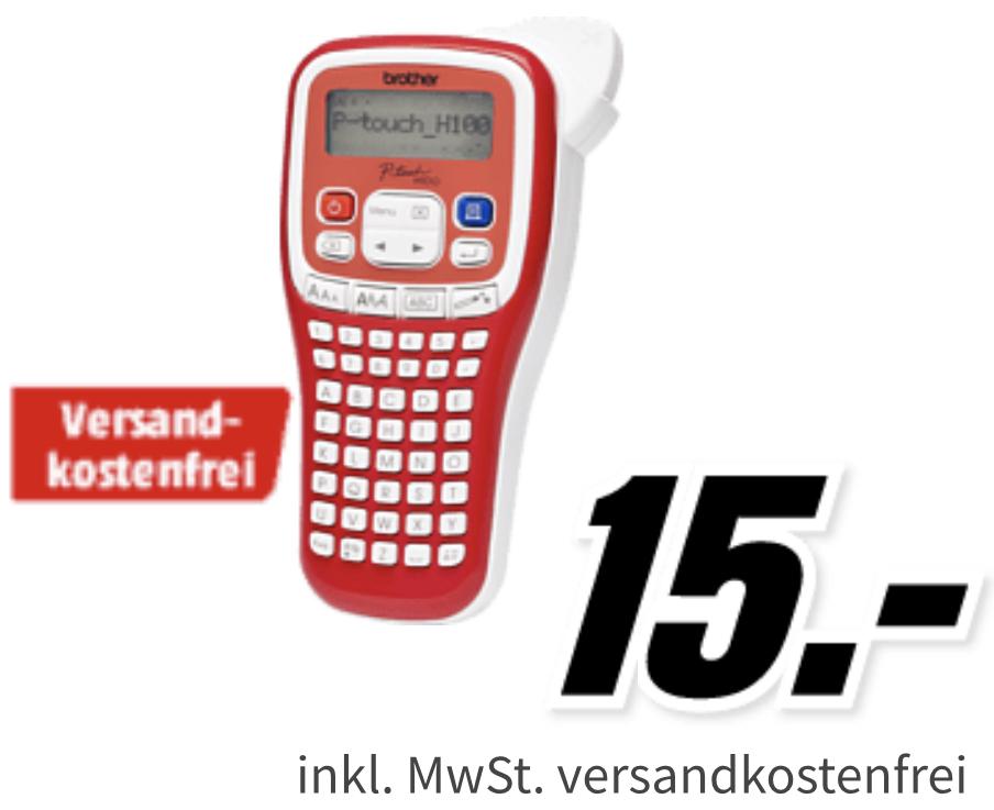 Brother P-touch H100R Handheld-Beschriftungsgerät für 14,55€ inkl. Versandkosten