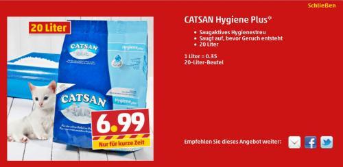 20 Liter Catsan Hygiene Plus (offline)
