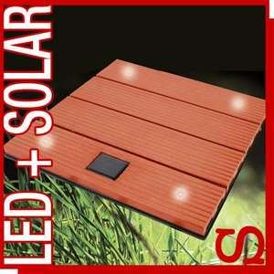 Solar-Bodenplatte 4xLED 30x30cm Terrassen-Modul, Stecksystem erweiterbar WOW für 4,99€ (einmalig 6,99€ Versand)