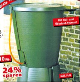 Regenfass-Set 220 Liter, 10-teilig für 29,95 Euro [Thomas Philipps]