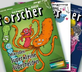 """Kostenloses Magazin """"forscher - Das Magazin für Neugierige"""""""