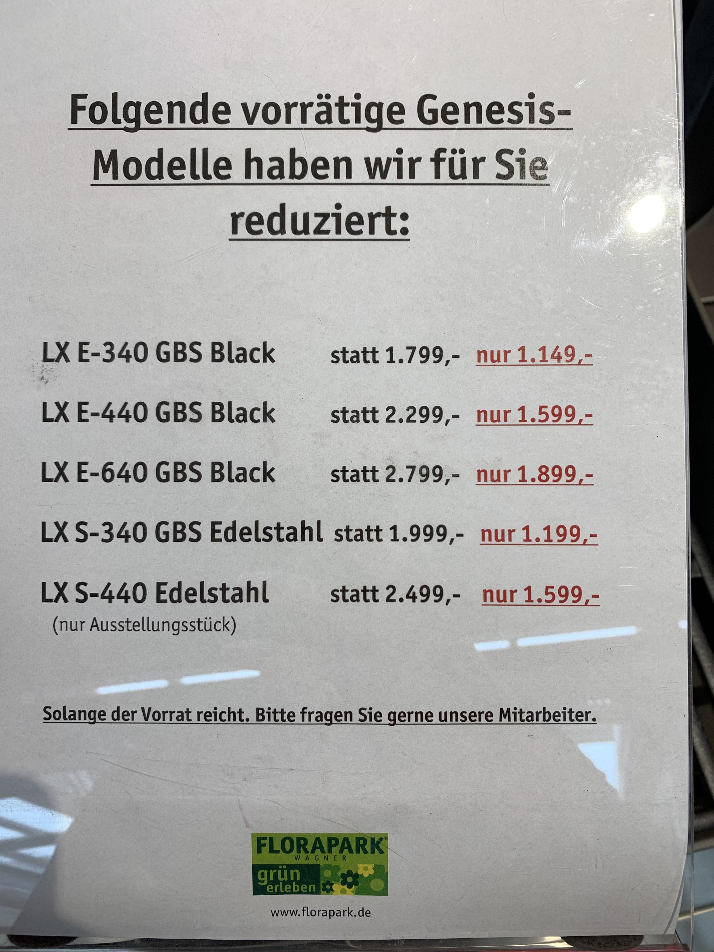 [Lokal Wiesloch] Weber Genesis LX, diverse Modelle