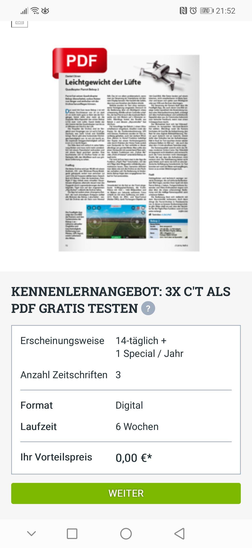 3X C'T als PDF gratis testen