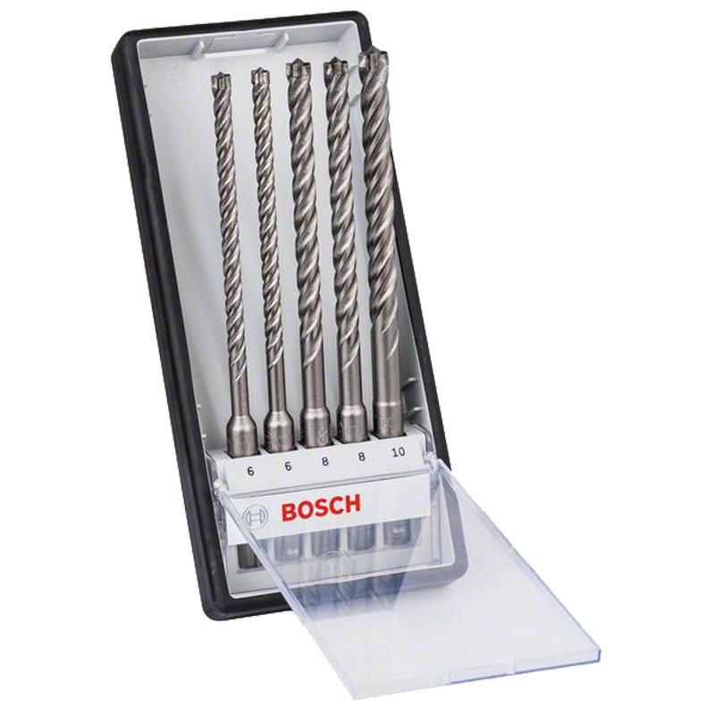 Bosch Hammerbohrer-Set SDS-plus-7X Robust Line Carbide 5-teilig 6 - 10 mm für 15,94€ [gotools]
