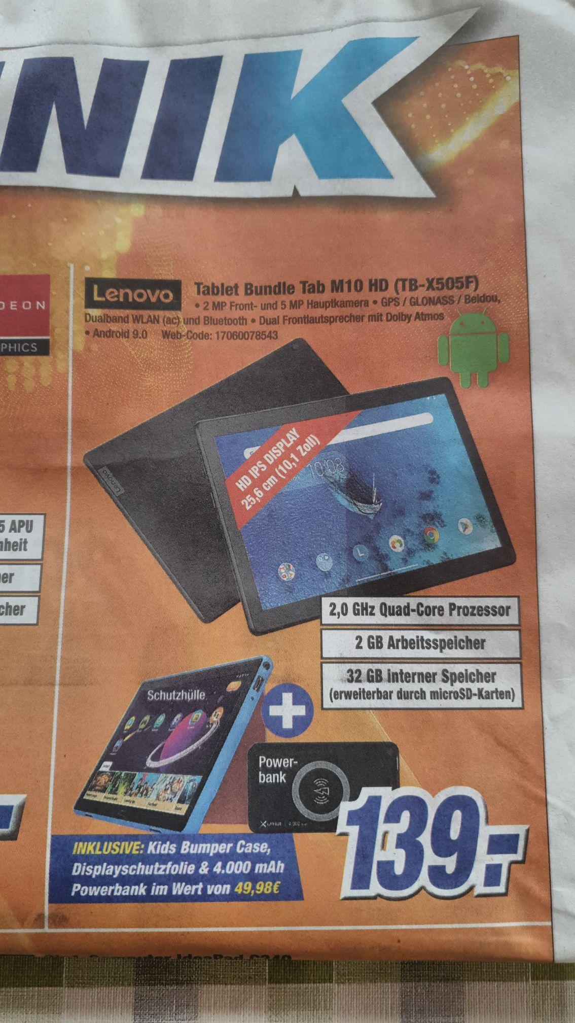 [Expert] Bundle Lenovo Tab M10HD incl. Case und Powerbank