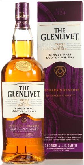 Whisky-Übersicht #27: z.B. The Glenlivet Distiller's Reserve Triple Cask Single Malt Scotch Whisky 40% vol. (1 l) für 42,80€ inkl. Versand
