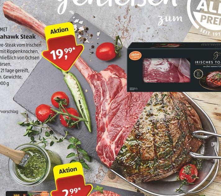 [Aldi-Süd] 20.05. Tomahawk Steak irisch [Lidl] ab 18.05. britisch