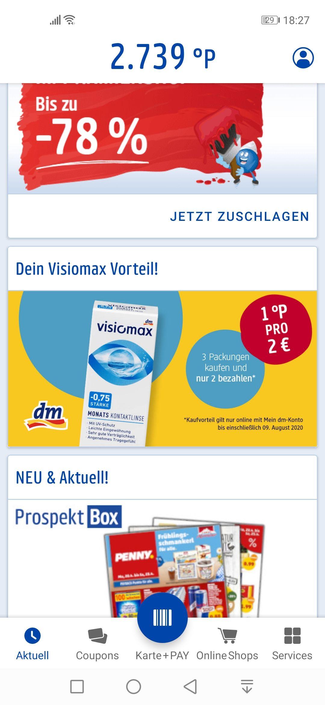 DM Visiomax Kontaktlinsen und/ oder Pflegemittel Vorteilskauf 5 für 4 oder 3 für 2 [nur online]