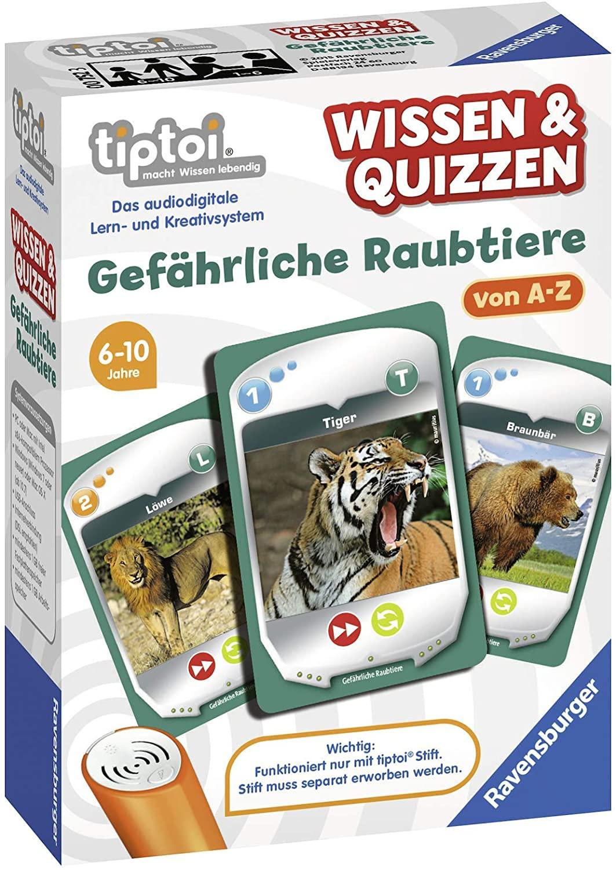 Ravensburger tiptoi Wissen und Quizzen Gefährliche Raubtiere Spiel | Amazon Prime
