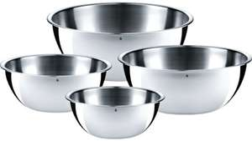 "WMF 4-teiliges Küchenschüssel-Set ""Gourmet"" (Edelstahl, Ø 24, 22, 18, 16 cm) [MÜLLER Filialen]"