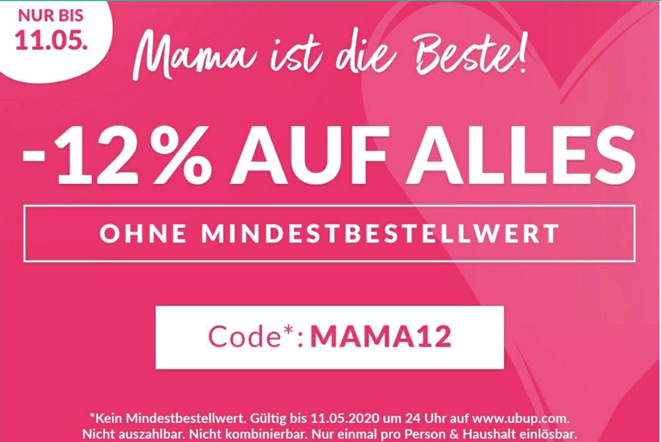 12% bei ubup zum Muttertag