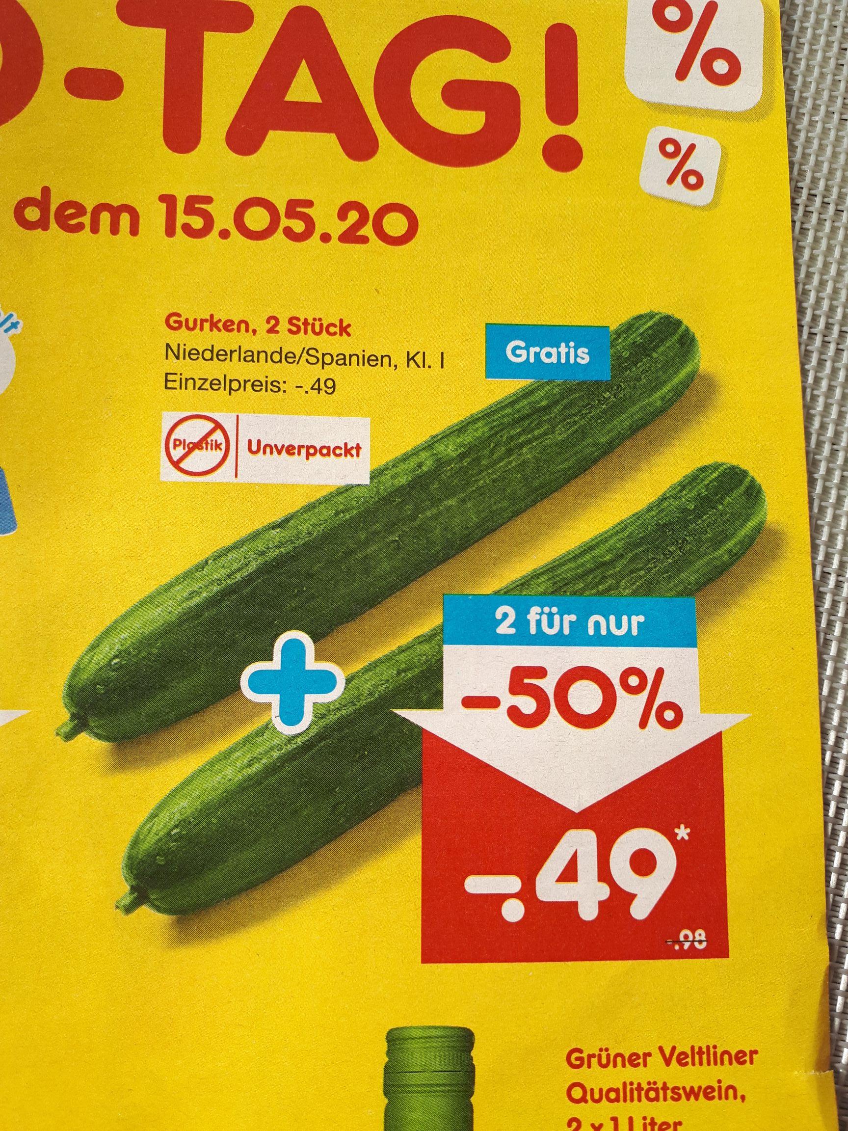2x Gurken für nur 0,49€ [Netto MD, am 15.05]
