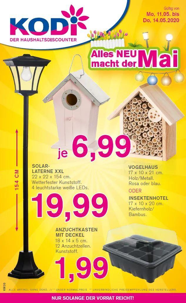 Ab Montag in KODi Filialen: Vogelhaus oder Insektenhotel versch. Farben