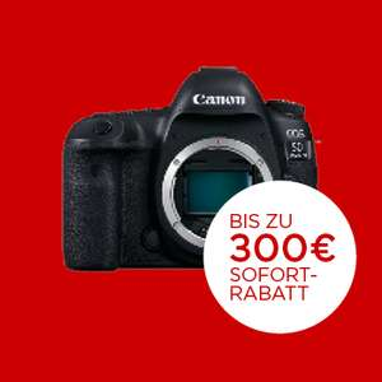 Canon Sofort-Rabatt für 31 Produkte (bis zu 300€ Rabatt)