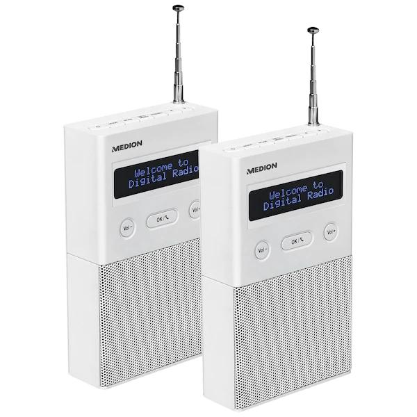 2x DAB+ Steckdosenradio Medion P65715 mit Bluetooth® im Set - ARTIKELSET