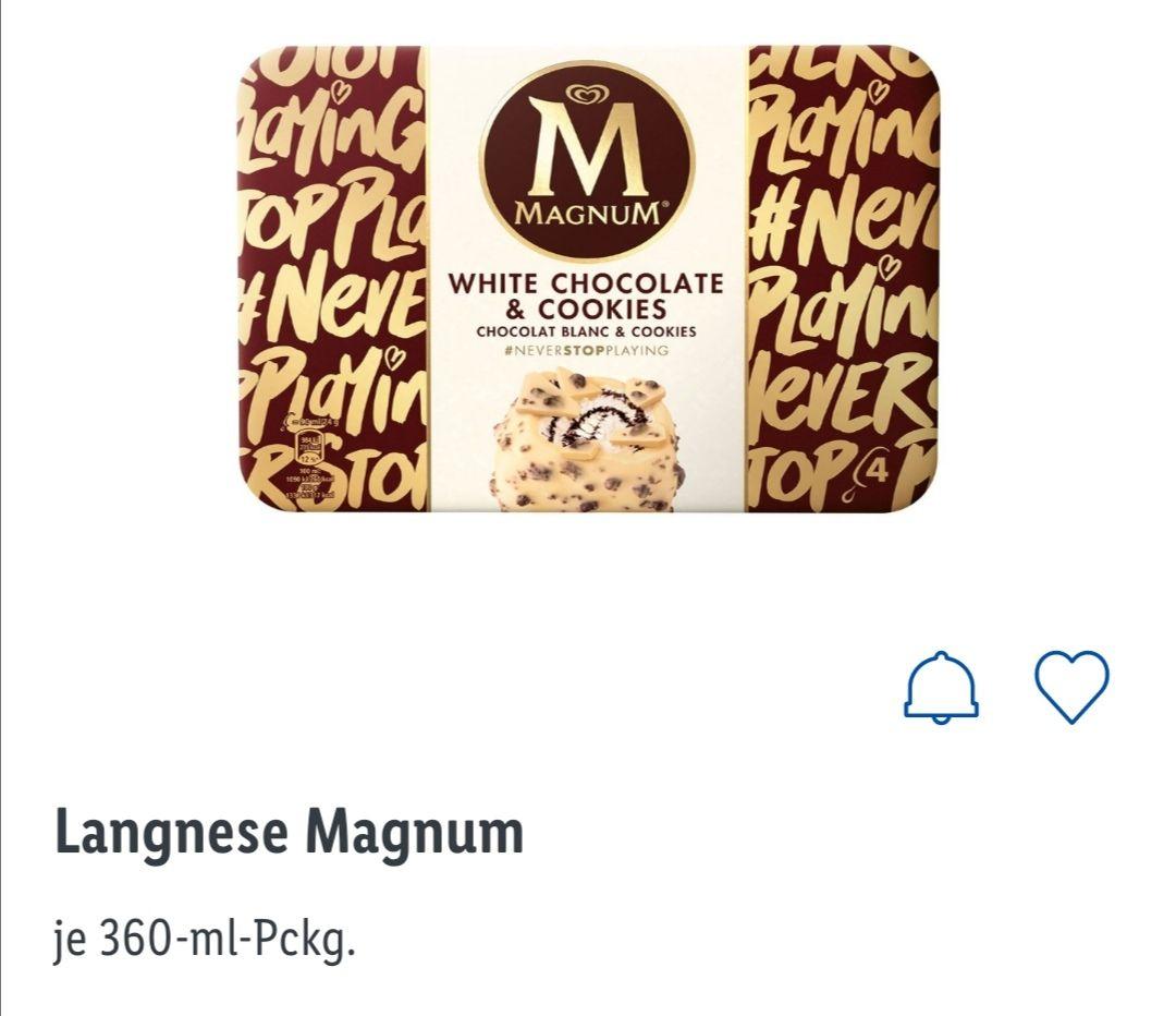 Magnum Eis effektiv für 0,99 durch Reebate (Lidl/Kaufland 360ml)