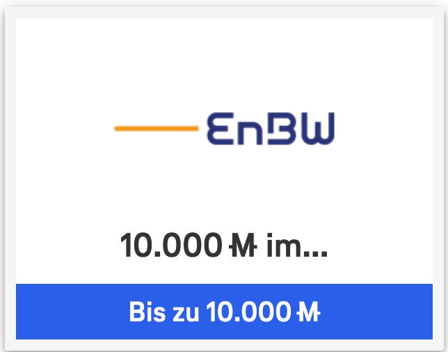 LH Miles & More Aktion: 10.000 Meilen bei EnBW (Gas, Wärme, Strom), 15-fache Meilen bei Ansons, Hagebau usw
