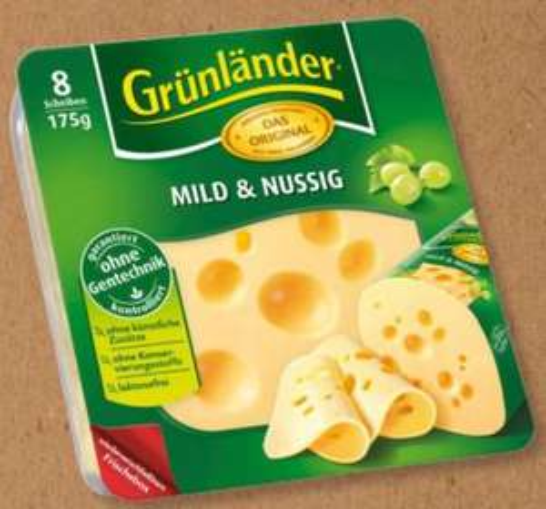 [Lidl Super Samstag] Grünländer in Scheiben, verschiedene Sorten, 175g für 1,11€ (0,64€/100g)