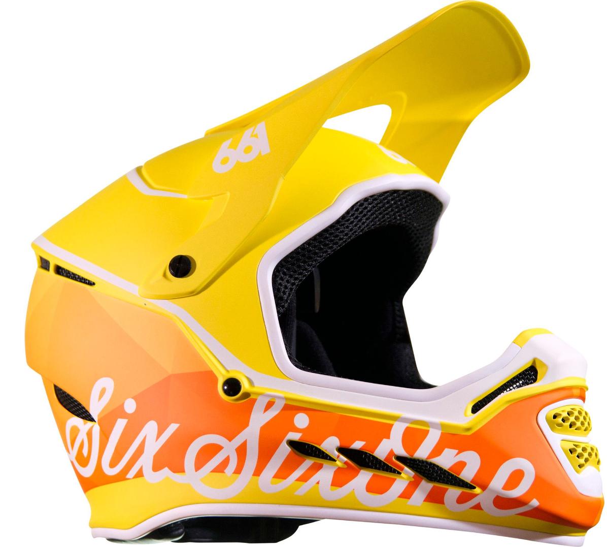 MTB Bike Helm SixSixOne Reset (+ Mudguard) - Geo Citrus (L,XL,XXL)