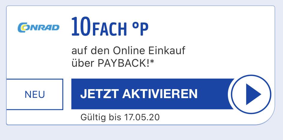 [Payback] 10fach Punkte beim nächsten Einkauf bei Conrad