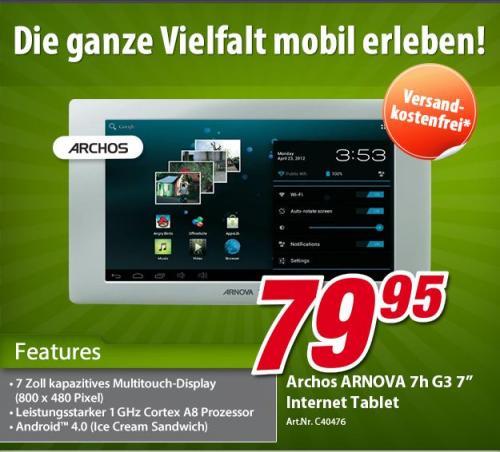 """Archos Arnova 7H G3 7"""" Tablet versandkostenfrei @voelkner"""