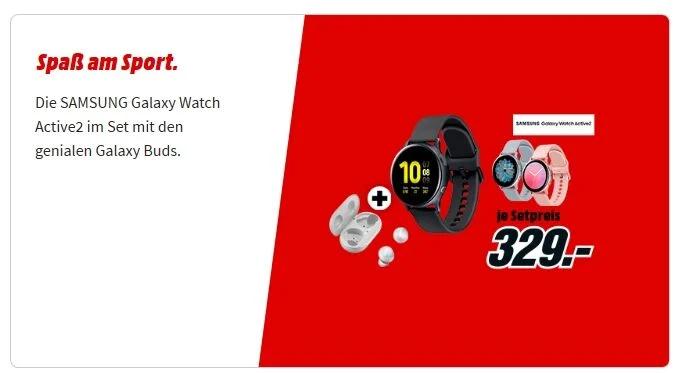 Mediamarkt/Saturn ab Samsung Galaxy Watch Active 2 (40mm LTE) versch. Varianten + Samsung Galaxy Buds SM-R170 für ab 329,-€