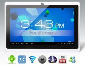 "[focalprice.com] 7.0"" Android 4.0.4 A13 1.0GHz Tablet PC with Wi-Fi, Camera, External 3G, Capacitive Touch (4GB) (Black & White) für 48,23 € inkl. shipping & Steuern!"
