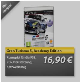 GRAN TURISMO 5 Academy Edition ab 10.01. @meinpaket 16,90 incl. Versand