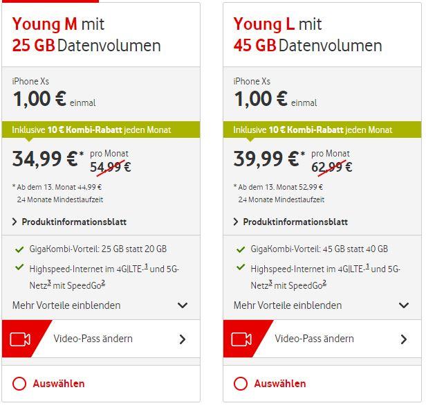 Nischendeal : Vodafone Young M GigaKombi mit 25GB Highspeed Datenvolumen für eff. 8,5€ bei Hardware-Verkauf