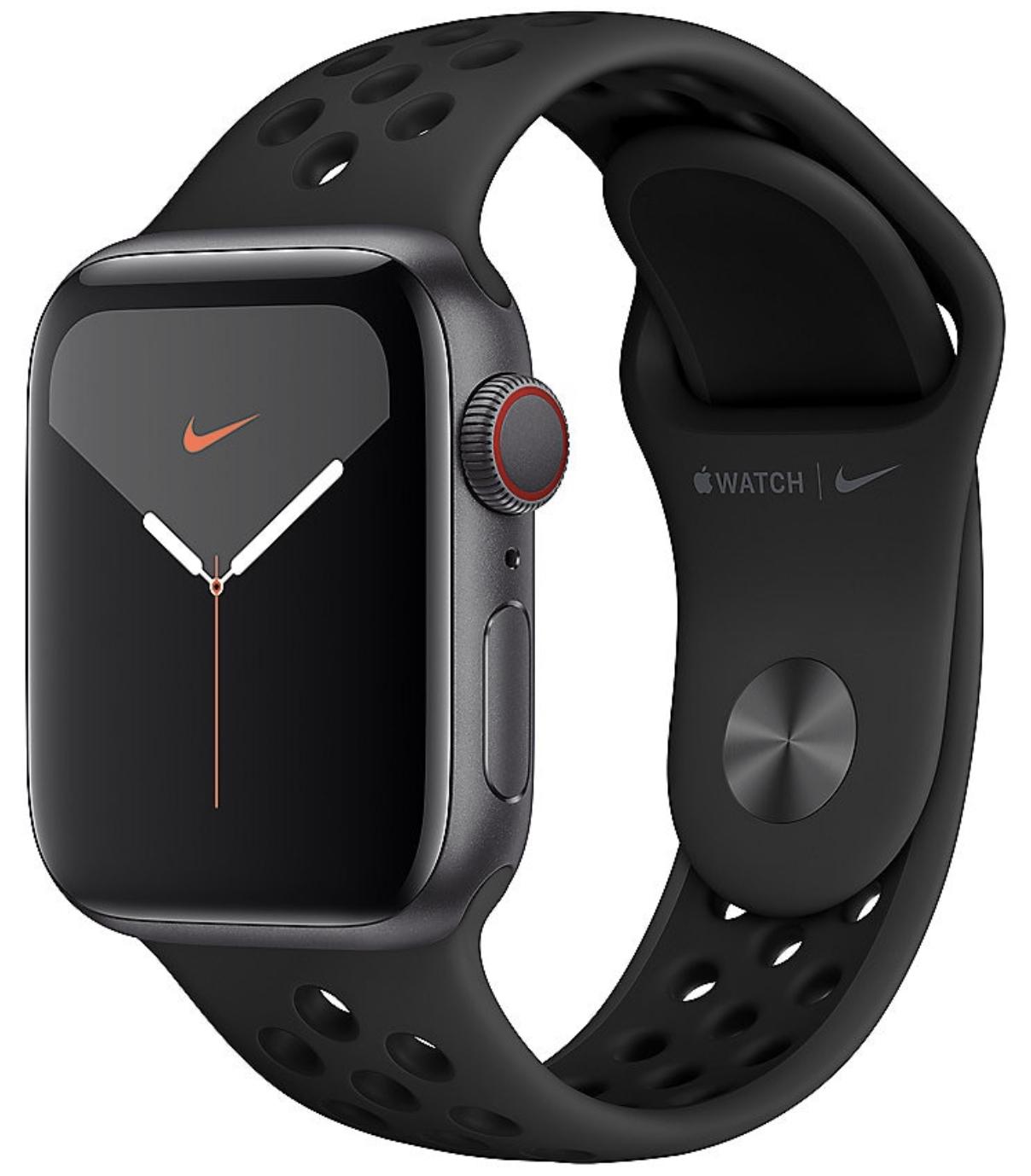 Apple Watch Nike+ Series 5 GPS + Cellular LTE 40mm Space Grau für 479,99€ inkl. Versandkosten
