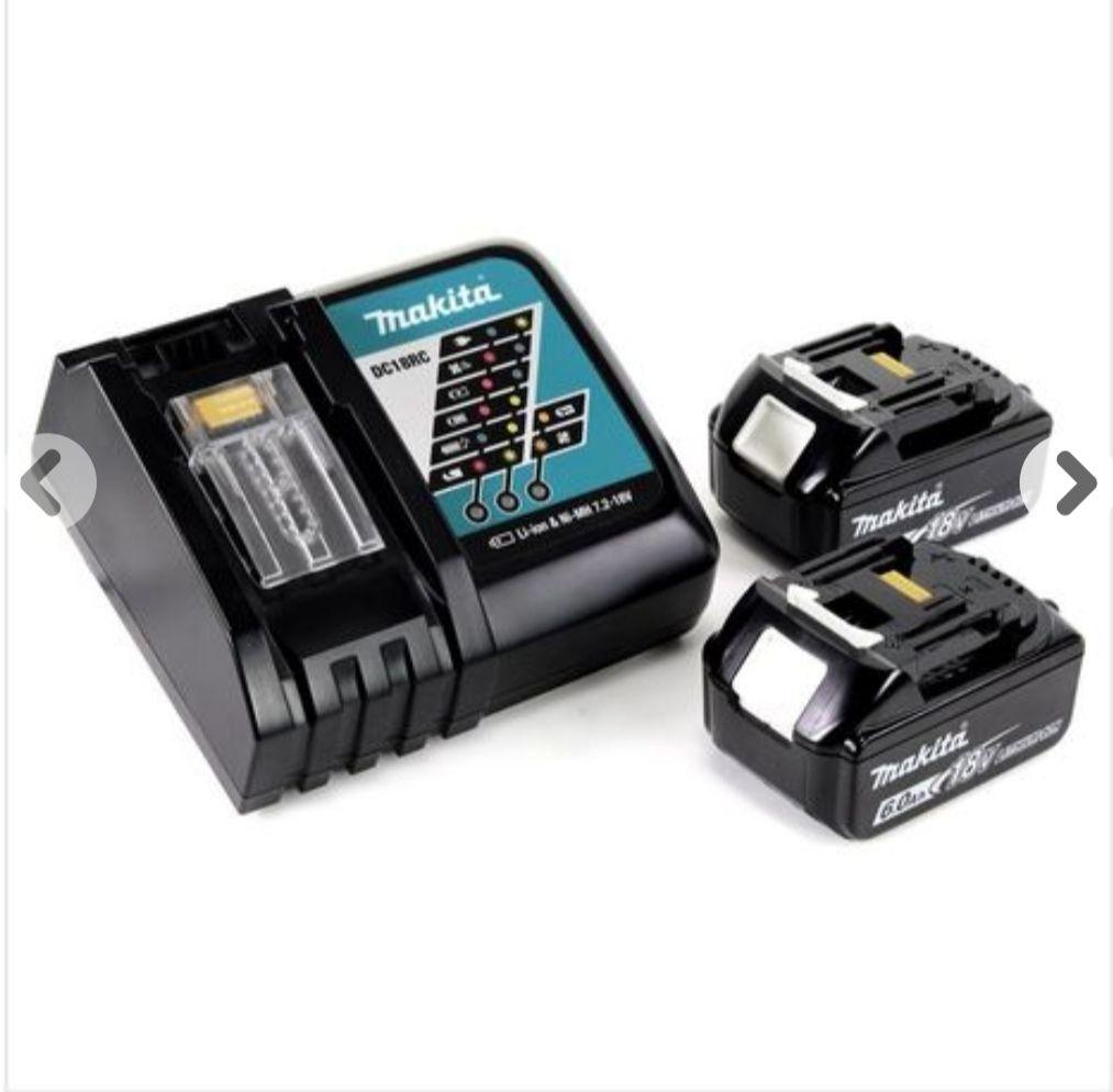 Makita Power Source Kit Li 18V mit 2x BL1860B Akku 6,0Ah + DC18RC Ladegerät ( 199480-6 )