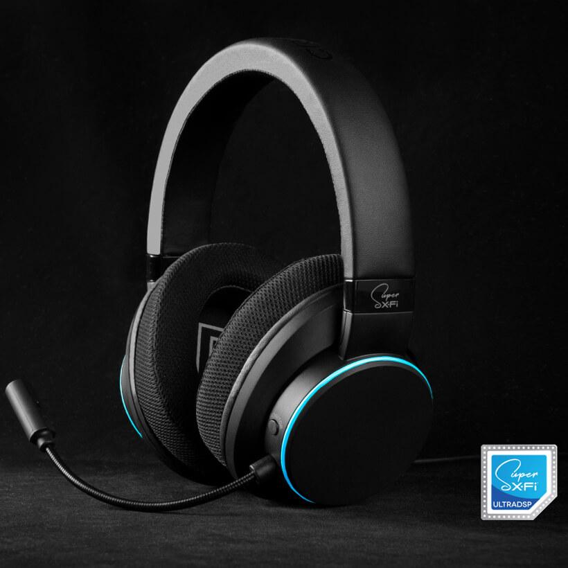 Creative SXFI AIR C - 7.1 Over-Ear USB-Headset für PC, Mac, PS4 und Nintendo Switch