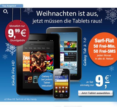 """Vertrag Galaxy Tab 2 7"""" oder Kindle Fire HD 7"""" + Galaxy Y"""