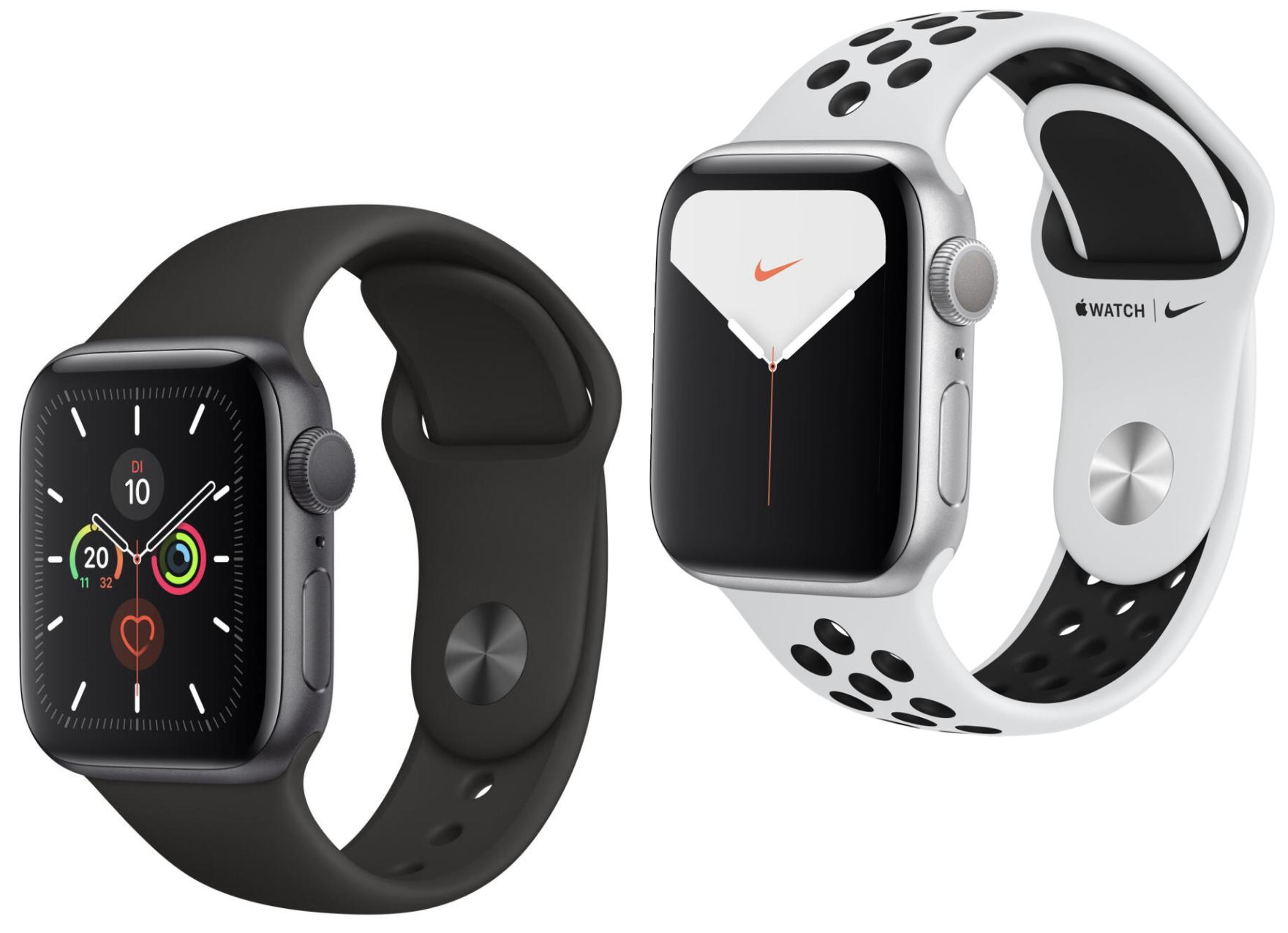[ebay Plus] Apple Watch Series 5 GPS 40mm spacegrau mit Sportarmband für 396€ oder Nike+ Version 40mm silber für 396€ inkl. Versandkosten