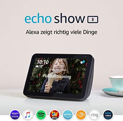 [Amazon] Echo Show 8, Alexa Smart Display mit 8 Zoll HD Bildschirm
