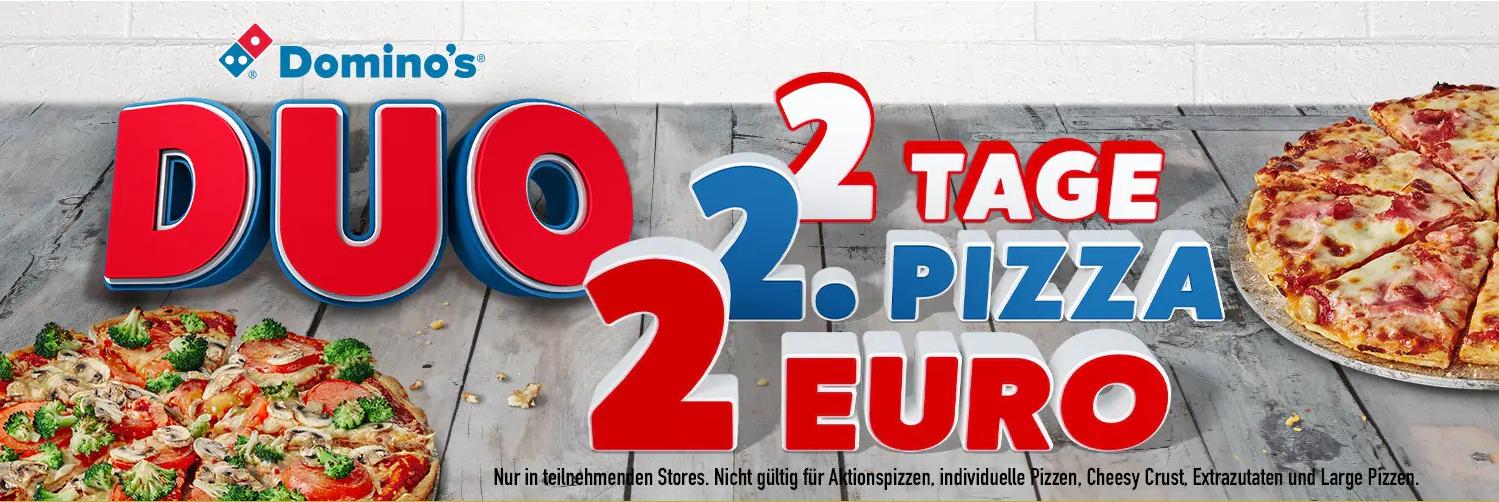 [Domino's] Duo - Jede 2. Pizza für nur 2€