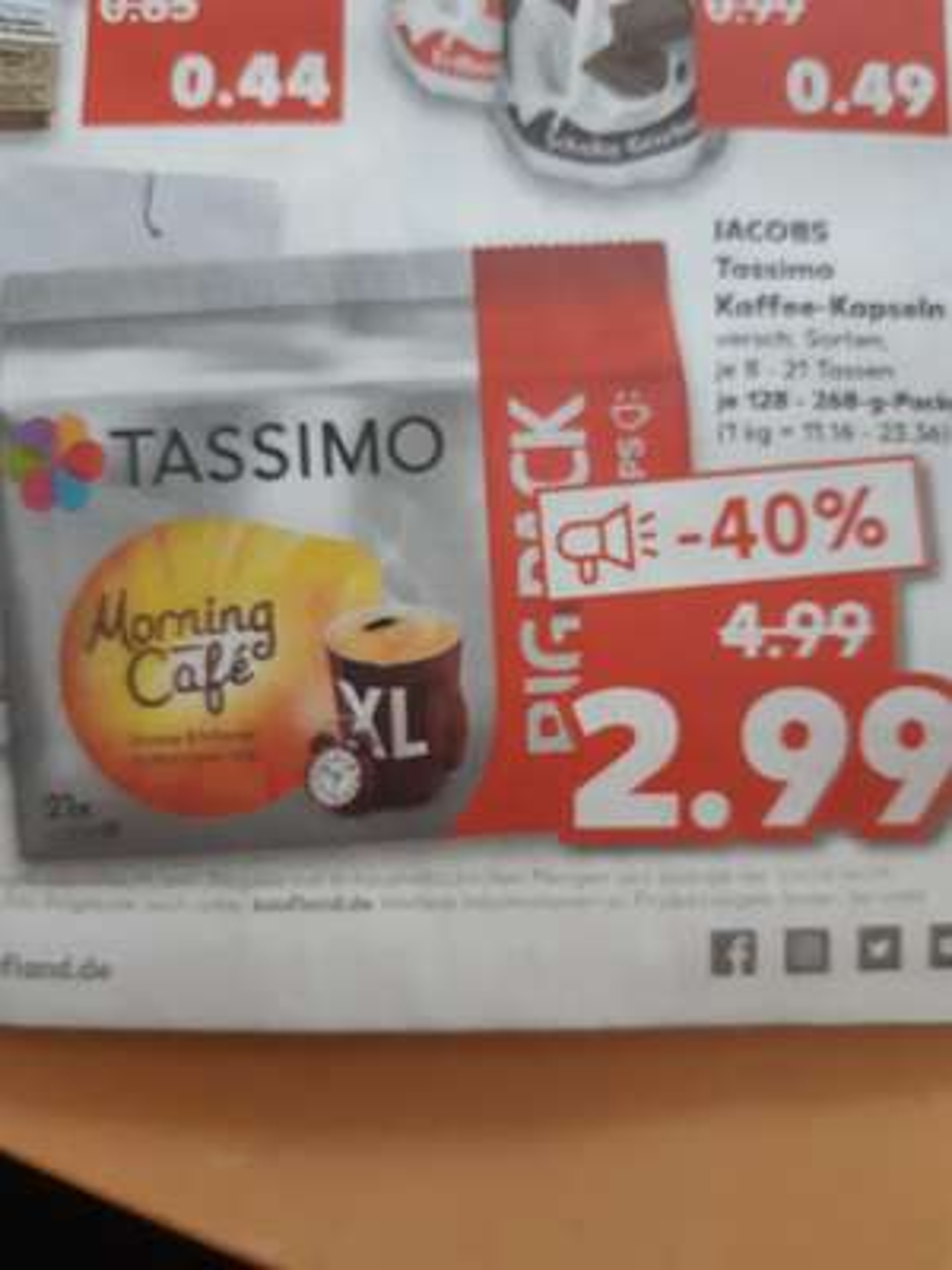 [Kaufland]Tassimo Kaffee-Kapseln