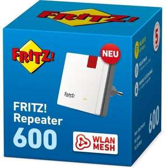 AVM FRITZ!Repeater 600 WLAN Repeater 600 MBit/s 2.4 GHz für 33,15€ inkl. Versandkosten
