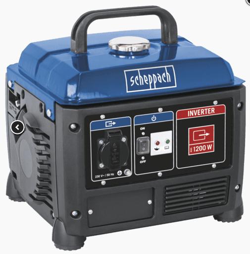 Stromerzeuger / Inverter mit 4-Takt Benzinmotor Scheppach SG1200 Bundesweit bei Penny