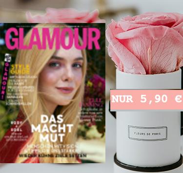 Glamour Miniabo (3 Ausgaben) + Fleurs de Paris im Wert von 19,95€ als Prämie kostenlos erhalten