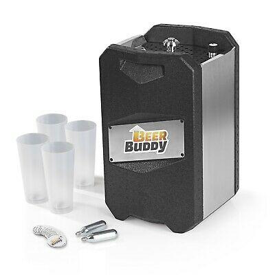 Beer Buddy Zapfanlage für standardmäßige 5L Fässer inkl. 4 Becher, 8 Magneten & 2 CO2 Kartuschen