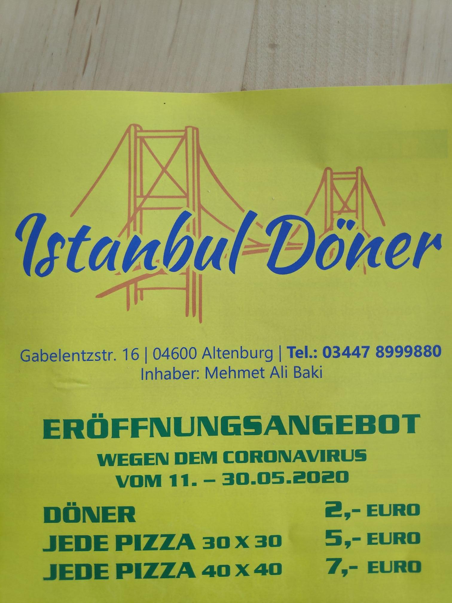 [Lokal Altenburg] Neueröffnung Istanbul Döner bis 30.05.2020 Döner für 2€