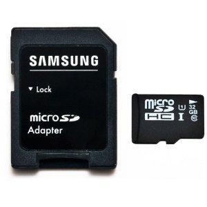 32GB MicroSDHC Class 10  Samsung Chip mit SD Adapter