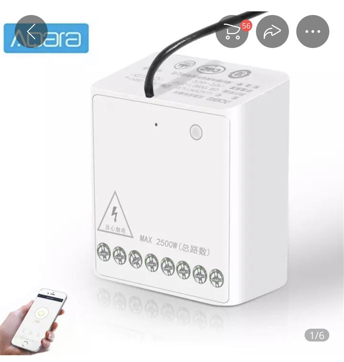 6x Aqara / Xiaomi 2 Wege Relais