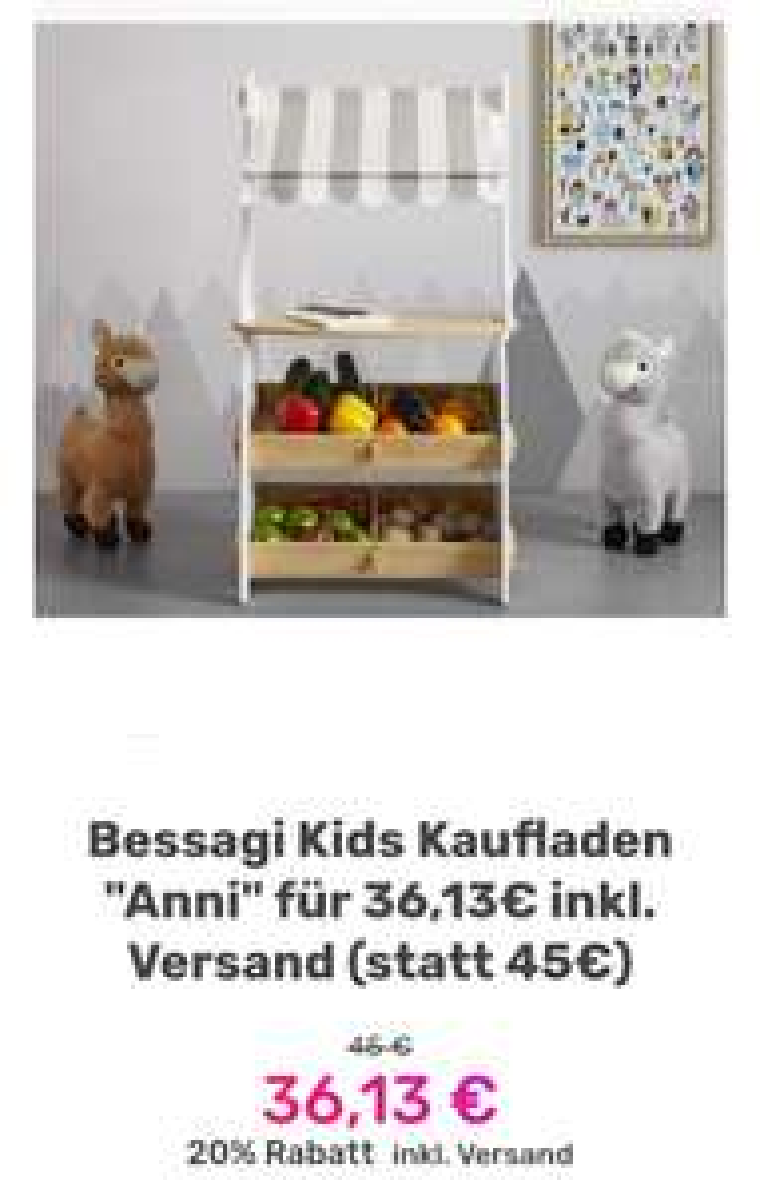 """Bessagi Kids Kaufladen """"Anni"""" für 36,13€ inkl. Versand (statt 45€)"""