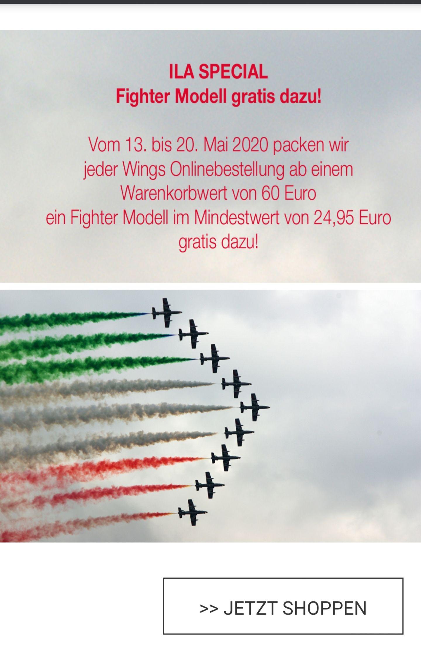 Gratis Herpa-Fightermodell ab 60€ Bestellwert+ Gratisversand