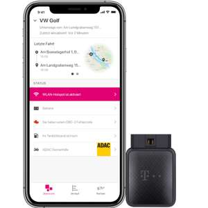 Telekom CarConnect Adapter inkl. 12 Monate 5 GB LTE Datentarif OBD2 Stecker mit WLAN [eBay]
