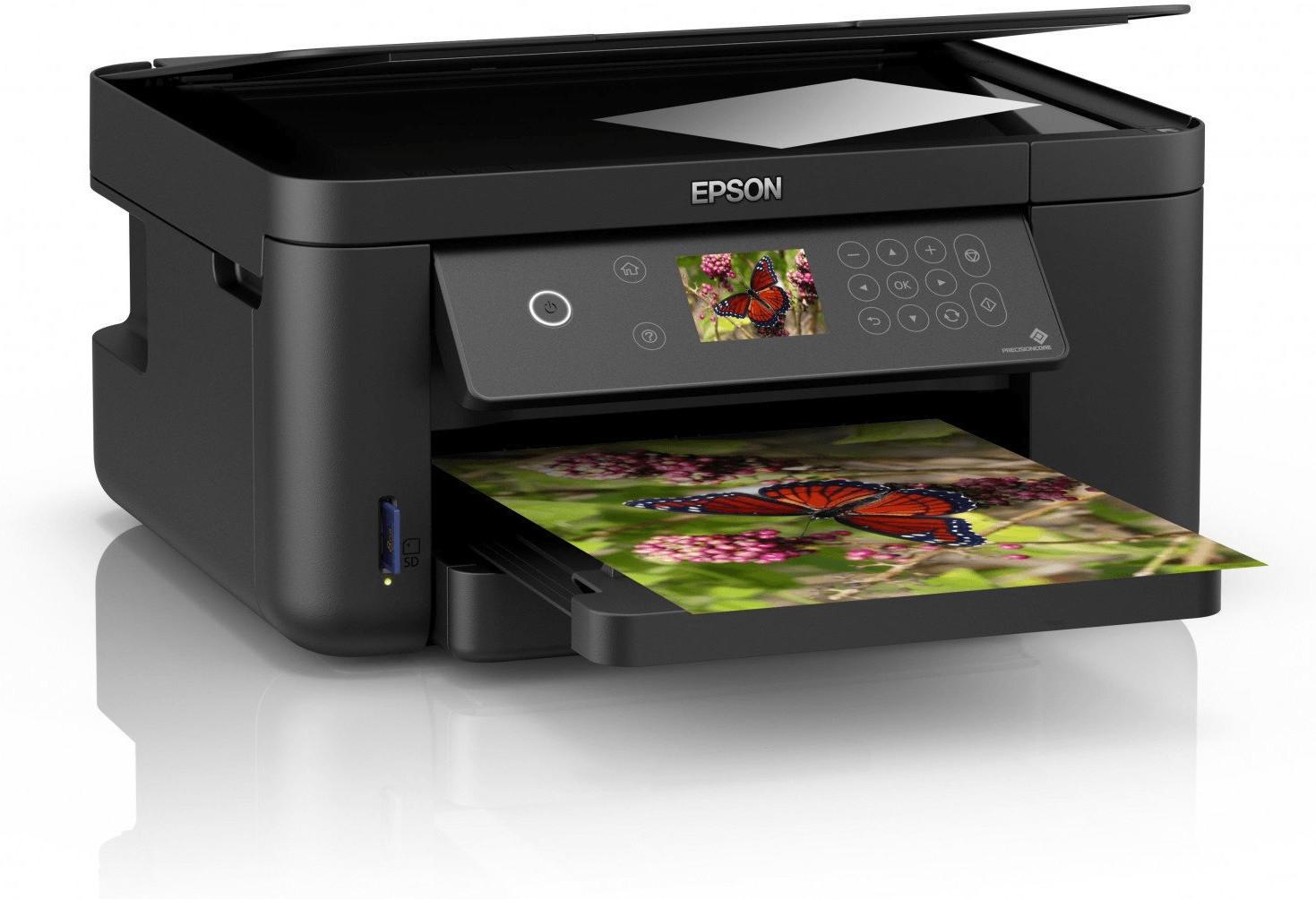 Tintenstrahl-MFD Epson Expression Home XP-5105 (Drucker/Scanner/Kopierer, A4, 14/7.5 S/min, 170 Blatt, Duplexdruck, WLAN, USB, Display)
